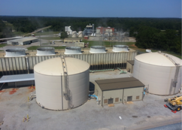 Condensate and make-up water storage tanks