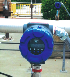 A Thermatel® TA2 thermal mass flow meter in the field.